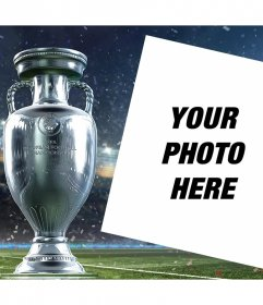 Upload your photo to this editable frame with the Cup of Euro