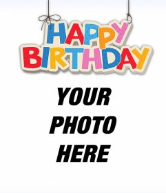 Hanging Happy Birthday to decorate your pictures