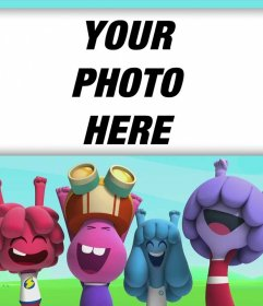 Upload a photo with characters from Jelly Jamm and free