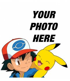 Effect with Ash and Pikachu where you can add your photo for free