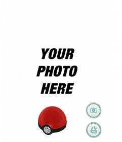 Screen of Pokemon Go game that you can edit with any picture