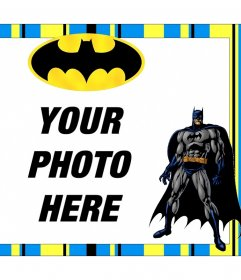 Free Batman frame to customize with your photos for free