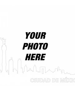 Photo effect with the skyline of Mexico City to add your picture