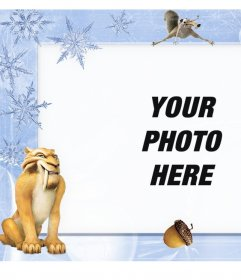Children frame with characters from the Ice Age to customize