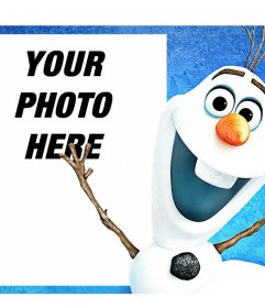 Photo effect to your photo along with Olaf from the animated film Frozen