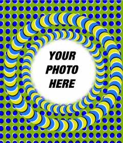 Photo effect to edit and add a frame to your photos with an optical illusion