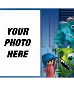 Frame with characters from Monsters Inc. to upload your photo