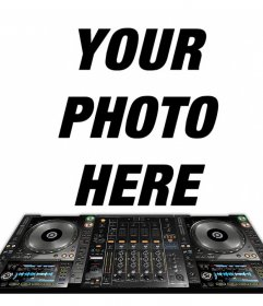 Photo effect to put your photo with a DJ mixer for free
