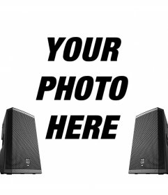 Online photo effect with two speakers for your photos