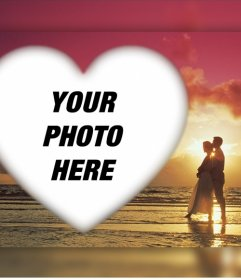 Romantic effect to upload your photo with a couple in a sunset