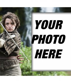 Photo effect for admirers of Arya Stark