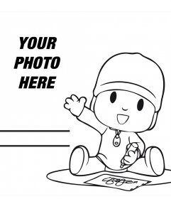 Effect to edit with your photo and color the picture of Pocoyo