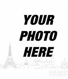 Editable photo effect for your photo to add the silhouette of Paris