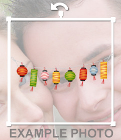 Chinese lanterns to decorate your images with this photo effect