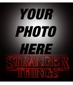 Photo effect of Stranger Things to edit with your photo online