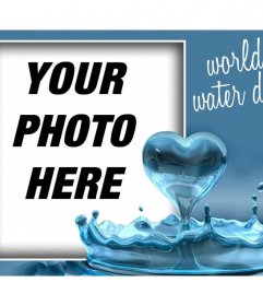 Celebrate Water Day with this photo effect with a heart