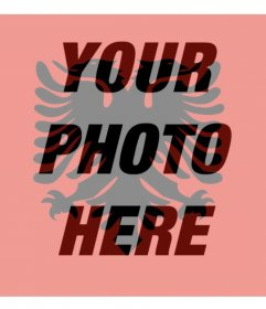Photo filter with the flag of Albania perfect for your profile picture