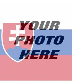 Slovakia flag to add on your photos as an online filter
