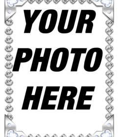 Picture frame with brilliant diamonds to decorate your pictures