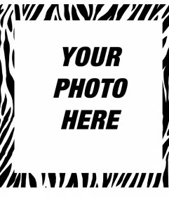 Editable photo frame with zebra design to decorate your pictures