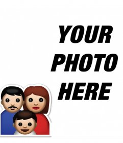 Original photo effect to upload a photo of your family and share
