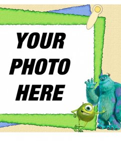 Frame with characters from the childrens film Monsters, Inc