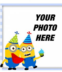 Original frame with Minion in a birthday party