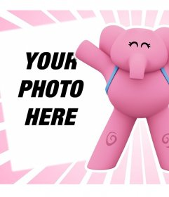 Online effect with the elephant Elly from Pocoyo perfect for upload your photo
