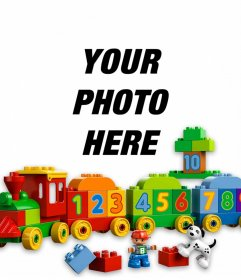 Photo effect of toys to upload a photo of your child