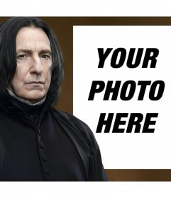 Photo effect with Snape of Harry Potter to upload a photo