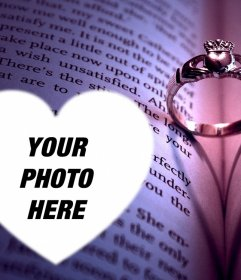 Photo effect with an engagement ring to upload your picture