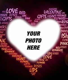 Photo effect of love with words to your photo