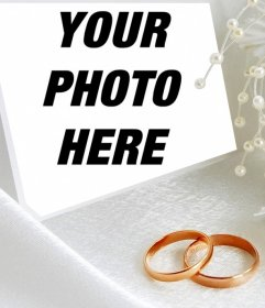 Photo effect with two wedding rings to upload a photo