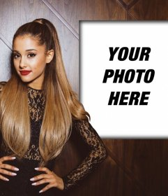 Photomontage with Ariana Grande to put your photo