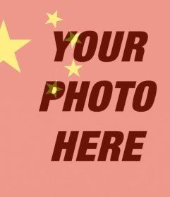Flag of China to put on your photo