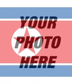 Flag of North Korea to add as a filter to your photos