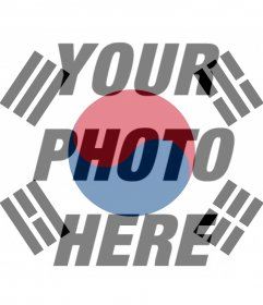 Filter of the flag of South Korea to your photo
