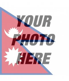 Photo effect of Nepal flag for your photo