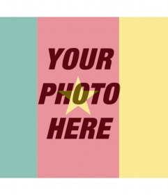 Cameroon flag effect over your photos and for free