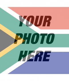 Photo effect of the South African flag for your photo