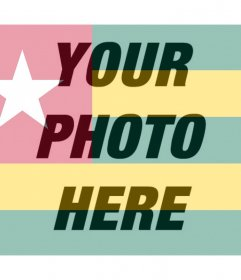 Edit your profile picture with the filter flag of Togo