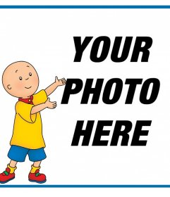 Photo effect with Caillou to upload a photo for free
