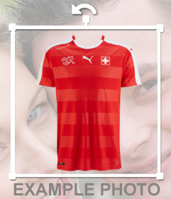 Paste the shirt of Switzerland soccer team on your photos for free
