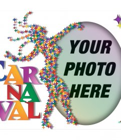 Colorful effect to celebrate Carnival with your photo and for free