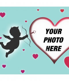 Special card to celebrate Valentines Day uploading your photo
