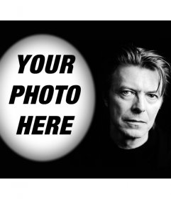 Photo effect with David Bowie to upload a photo