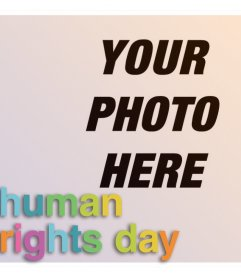 Photo effect of Human Rights Day to your photo