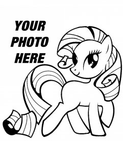 Photo effect of a picture of My Little Pony to print and color