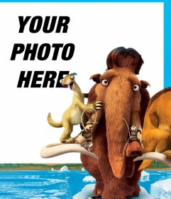 Photo effect with characters from the Ice Age movie to edit