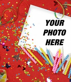 Birthday photo effect to upload your photo